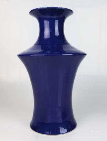 A Chinese Blue Glazed Vase,
