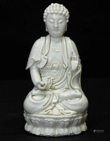 A porcelain Buddha, China, 1800s