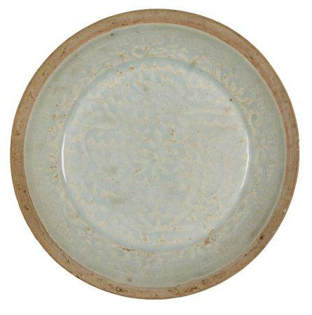 A Chinese porcelain qingbai dish, Southern Song dynasty, 13th century, moulded to the interior