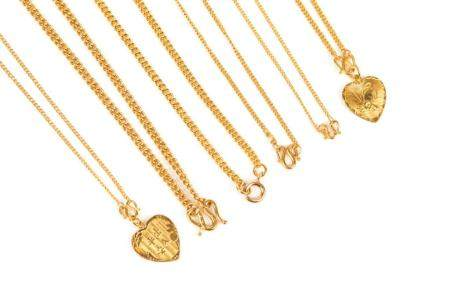 SIX CHINESE GOLD NECKLACES