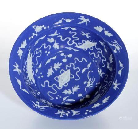 Chinese Blue Glazed Basin