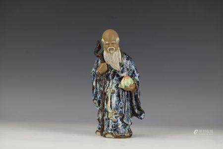A Chinese SHIWAN STATUE The God of Longevity