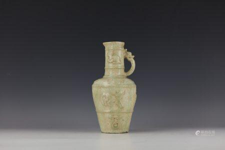 A Chinese Antique Ceramic  Vase with A Handle
