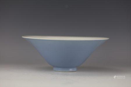A Chinese Light Blue Glaze Porcelain Bowl
