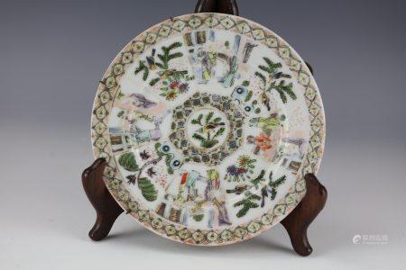 A Famille Rose Painted Landscape Porcelain Bowl