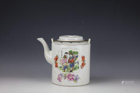 A Chinese Export Famille Rose  Sweetmeat Set in Fitted Box