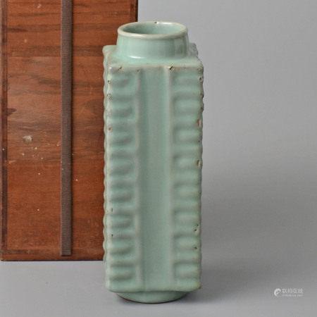 青釉琮式瓶