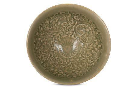 A CHINESE YAOZHOU TEA BOWL.