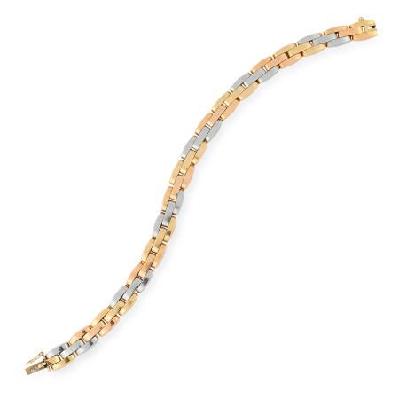 A VINTAGE GOLD BRACELET, GEORGES L'ENFANT FOR VAN CLEEF & ARPELS comprising alternating links in
