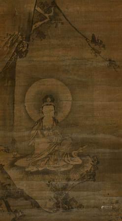 KAKEMONO À L'ENCRE SUR SOIE, Japon, fin de lépoque Edo, XIXe