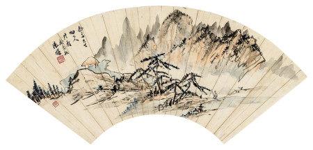 汤涤(1878~1948) 访友图 镜心 设色纸本