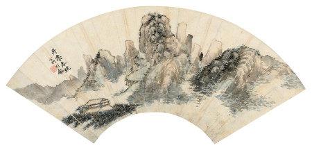 翁同龢(1830~1904) 丹台春晓 镜框 设色纸本