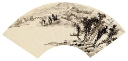 钱瘦铁(1897~1967) 山水 镜心 水墨纸本