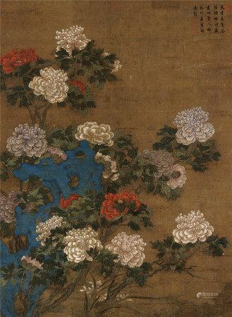 佚名 花卉 镜心 设色绢本