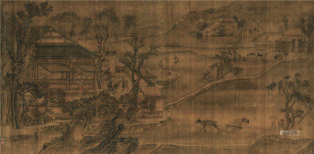 沈凤(1685~1755) 山水 镜心 设色绢本