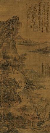 沈周(1427~1509) 1489年作 山水 立轴 设色绢本
