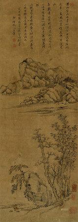 王翚(1632~1717) 1708年作 山水 立轴 水墨纸本