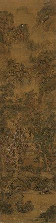 佚名 山水 立轴 设色绢本