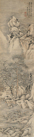 王翚(1632~1717) 1680年作 山水 立轴 水墨纸本