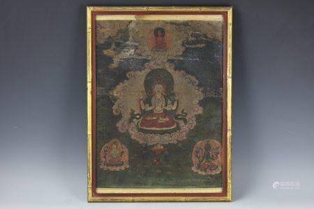 A Thangka of Shakyamuni Buddha
