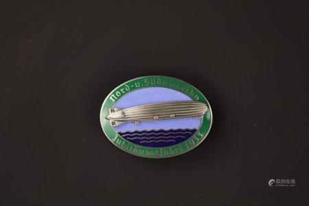 German Zeppelin JUBILAUMSFAHRT 1933 Badge
