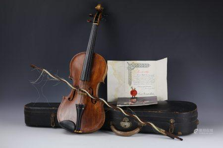 A Violin by Saxony Copy of Vuillaume with Original Case