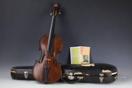 A Violin by Antonius Stradivaruis Made in Czecho