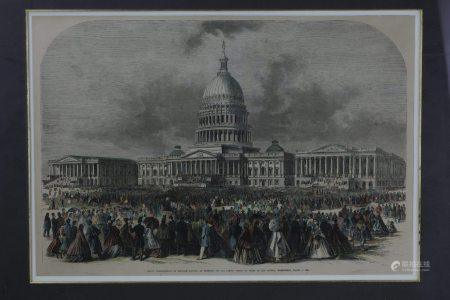 A Framed Engraving of Abraham Lincoln March 4 1965