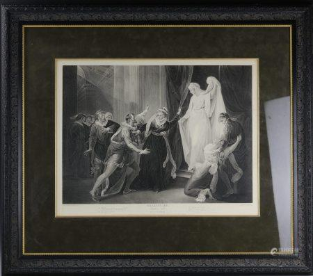 A Framed Engraving of Shakespeare Winter Tale Act V