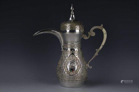 A Middle Eastern Silver Winte Pot