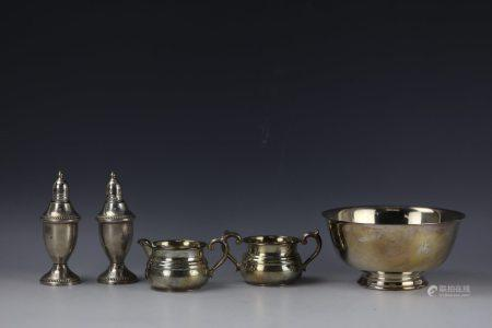 A Group of 5 Silverware  Set