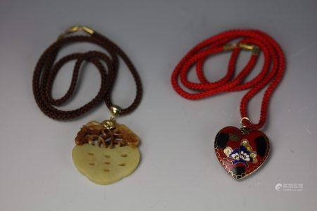 A Jade Necklace and A Cloisonne Necklace