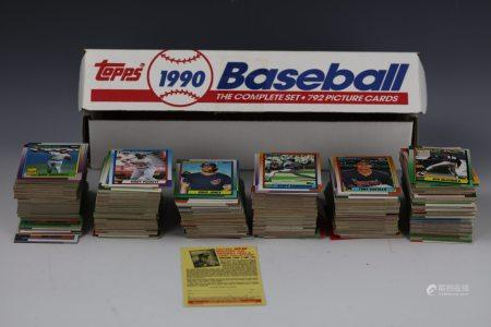 1990 Baseball Complete Set 792 Picture Cards