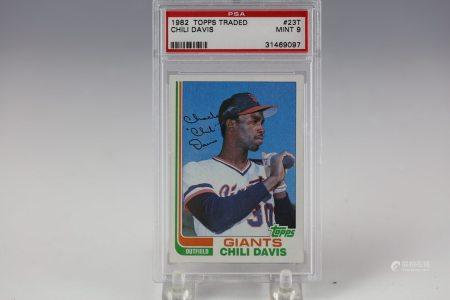1982 Topps Traded Chili Davis PSA MINT 9