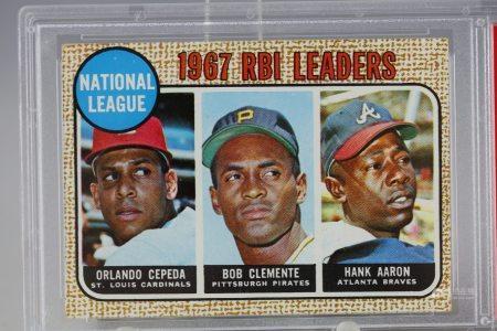 1967 RBI Leaders Cepeda Clemente Arron PSA