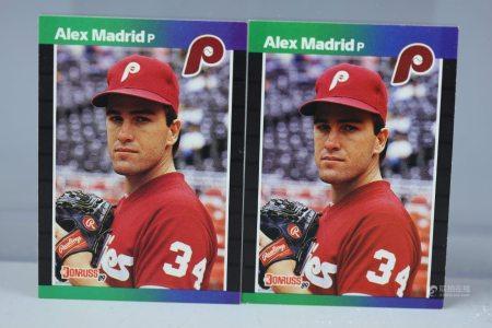 2 Donruss 1989 Alex Madrid Error Cards