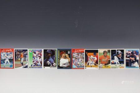 10 Cards Gonzalez Henderson Correa Jackson Fielder Blue