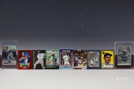 9 Cards Jordan Aaron Jeter Mazeroski Woodling Rolen