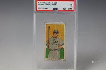 1910 Heinie Zimmerman Piedmont 350 PSA Chicago Cubs
