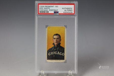 1909 Doc White Portrait Piedmont 150 PSA Chicago Cubs