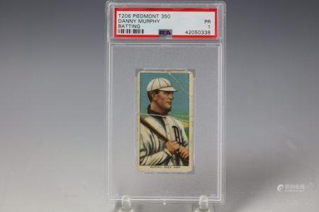 1909 Danny Murphy Batting Piedmont 350 PSA Philadelphia