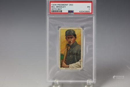 1909 Bill Bradley Piedmont 350 PSA Cleveland