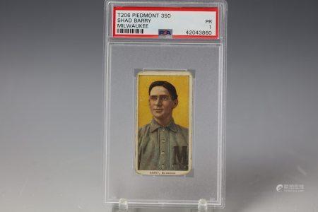 1909 Shad Barry Piedmont 350 PSA Milwaukee