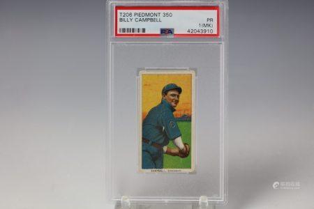 1909 Billy Campbell Piedmont 350 PSA Cincinnati