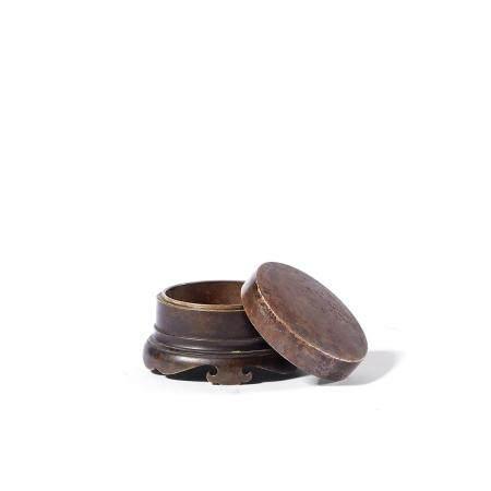 清 铜香盒