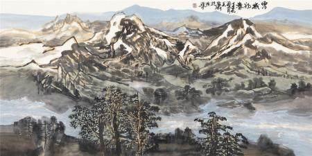 当代 王梦湖 雪域初春
