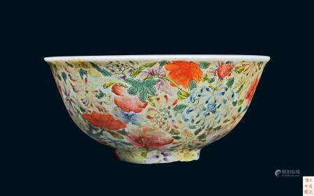 清代 清光绪珐琅彩花卉纹碗
