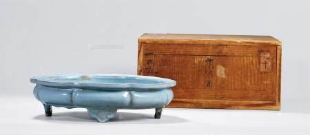 18世纪 宜钧釉葵口洗