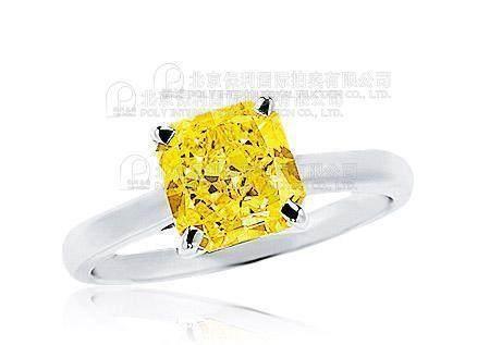 2.24克拉 天然艳彩黄色VS2净度钻石戒指