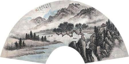 黄幻吾 山水镜片